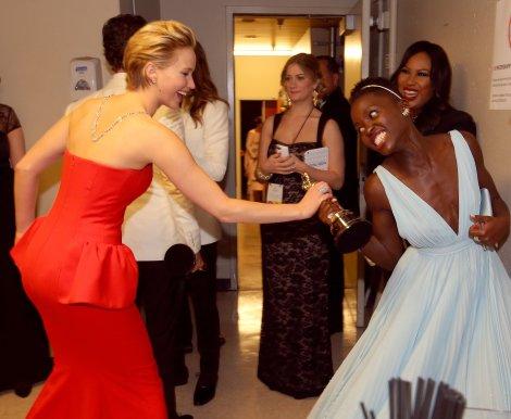 Jennifer Lawrence Lupita Nyong'o