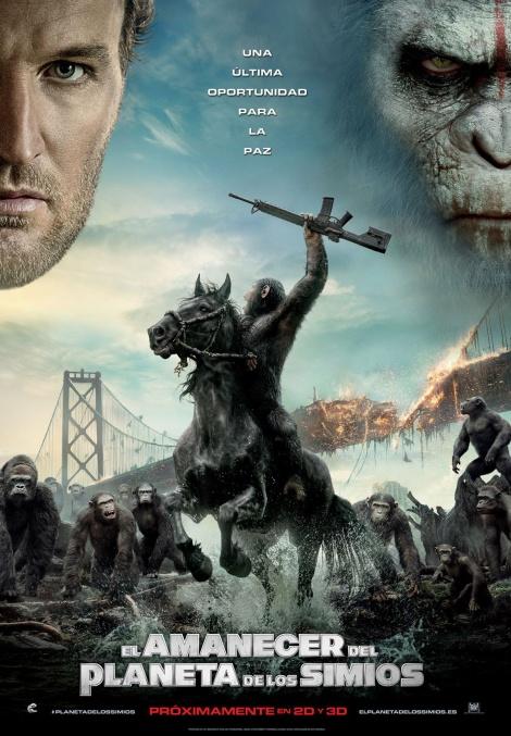 cartel el amanecer del planeta de los simios