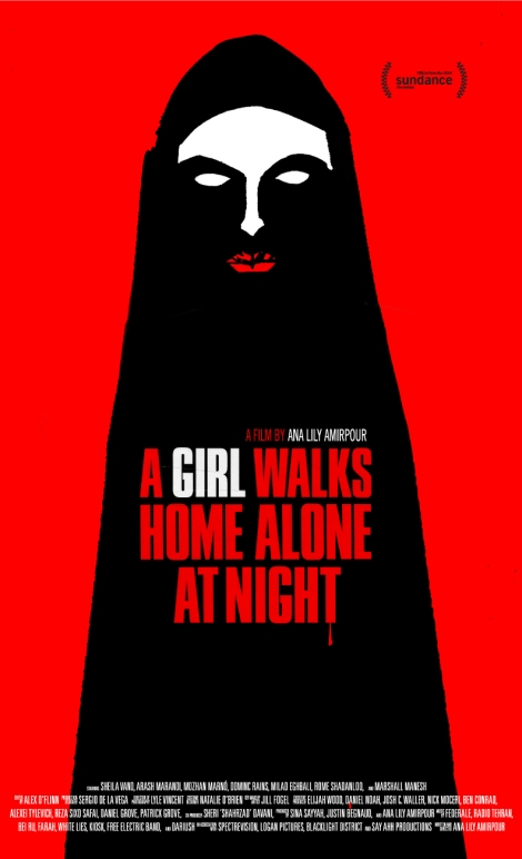 a girl walks