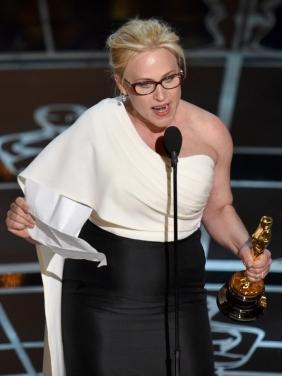 Espléndido discurso el de Patricia Arquette al recoger su Oscar por 'Boyhood'