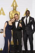 Jessica Chastain e Idris Elba con Emmanuel Lubezki