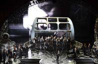 La recreación del puente Edmund Pettus para la interpretación de 'Glory'